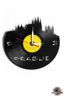 prague vinyl wall clock