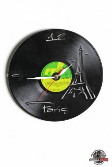 paris vinyl wall clock