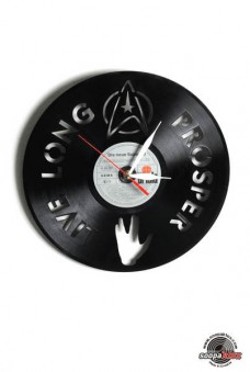 star trek vinyl wall clock