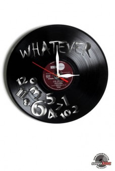 whatever vinyl wall clock