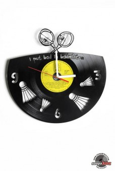 badminton vinyl wall clock