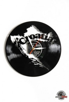 croatia vinyl wall clock