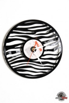 zebra vinyl wall clock