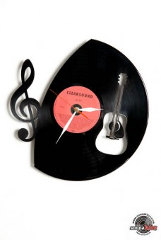 music vinyl wall clock