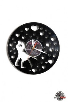 love 1 vinyl wall clock