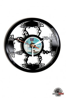 numbers 7 vinyl wall clock