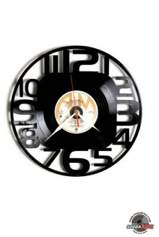 numbers 8 vinyl wall clock