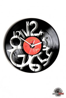 numbers 9 vinyl wall clock