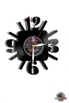 numbers 1 vinyl wall clock