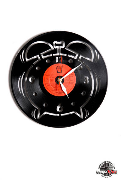 watch vinyl wall clock