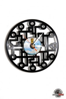 labyrinth vinyl wall clock