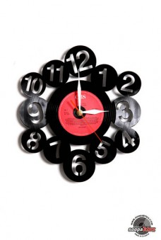 numbers 2 vinyl wall clock