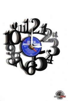 numbers 3 vinyl wall clock
