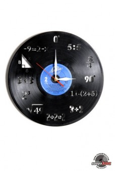 math vinyl wall clock