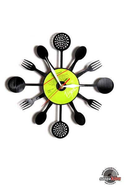 kitchen vinyl wall clock