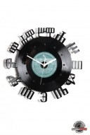 numbers 4 vinyl wall clock