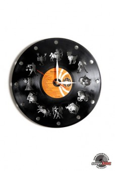 horoscope vinyl wall clock
