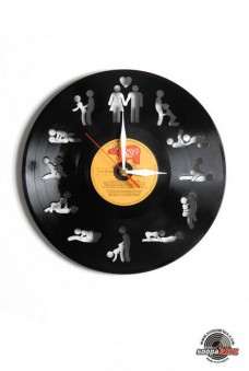 sex kamasutra vinyl wall clock