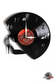 heel shoe vinyl wall clock