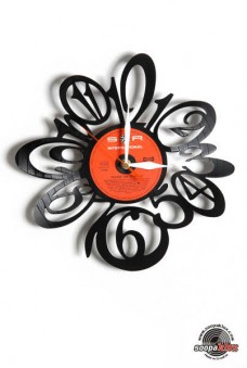 numbers 6 vinyl wall clock