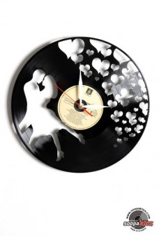 love 3 vinyl wall clock