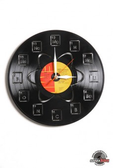 periodic table vinyl wall clock