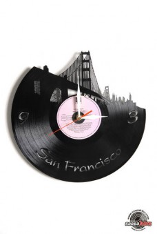san francisco vinyl wall clock