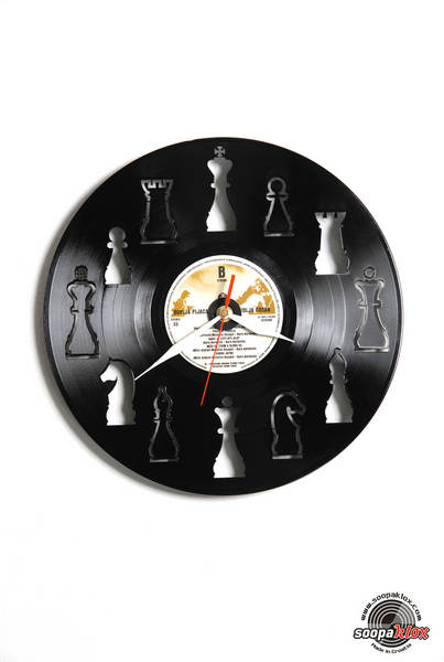 chess vinyl wall clock
