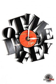 time of my life angel vinyl wall clock