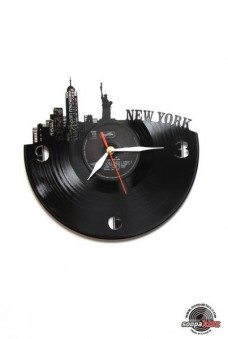 new york 1 vinyl wall clock