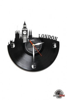 london vinyl wall clock