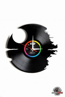 death star vinyl wall clock