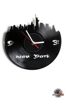 new york vinyl wall clock