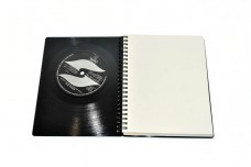 A6 DIN vinyl notebook, diary, sketchbook